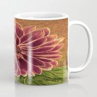 dahlia Mugs featuring Dahlia  by maggs326