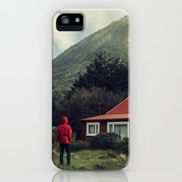 Red stalker hood! iPhone Case
