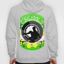 Skate wheels Punk Hoody