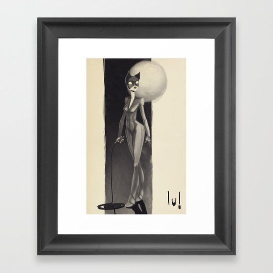 Catwoman Framed Art Print