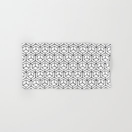 Hand Drawn Hypercube Hand & Bath Towel