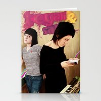tegan and sara Stationery Cards featuring Tegan and Sara by Mr. Frogo