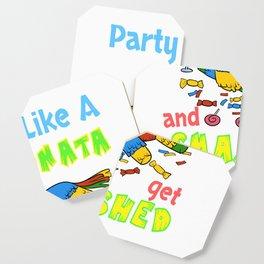 Funny Let's Get Smashed Pinata Cinco De Mayo Design Coaster