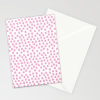 Dots Pink Stationery Cards