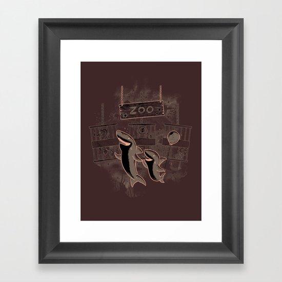 shark zoo Framed Art Print
