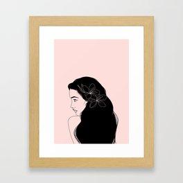 honeygirl   pink Framed Art Print