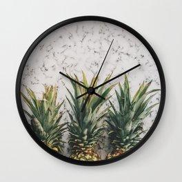 Three ananas Wall Clock