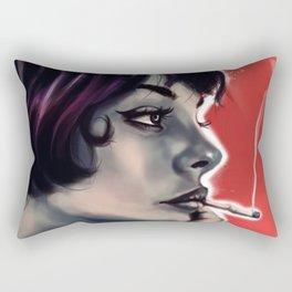 Smoking Girl Rectangular Pillow