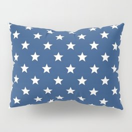 Blue back and white star pattern Pillow Sham