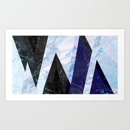 Marble stone ( frozen ) Art Print