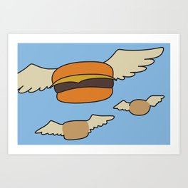 Bob's Burgers Flying Hamburger picture Art Print
