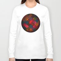 fabric Long Sleeve T-shirts featuring Grid fabric by Tony Vazquez