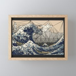 Lowpoly - The great wave of K Framed Mini Art Print
