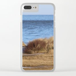 At the beach 4 Clear iPhone Case