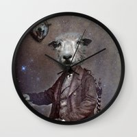 law Wall Clocks featuring jungle law by ppatphoto