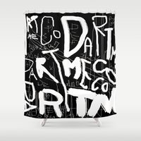 subway Shower Curtains featuring SUBWAY FEST by DARTMECO