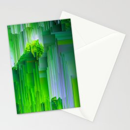 Nature Glitchin' - Abstract Pixel art Stationery Cards