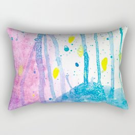 Enchanted Forest Watercolor Rectangular Pillow