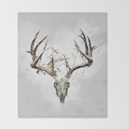 King of the Forrest - Trophy Buck - Deer Throw Blanket