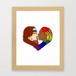 Justice Kiss Framed Art Print