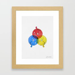 Primary Cats Framed Art Print