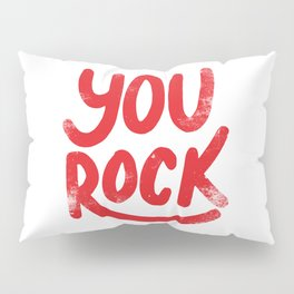 You Rock Vintage Red Pillow Sham