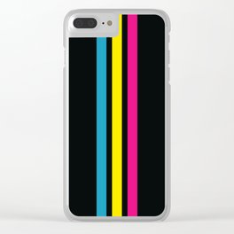 Stripes on Black Clear iPhone Case