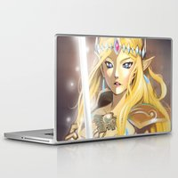 zelda Laptop & iPad Skins featuring Zelda by Mika