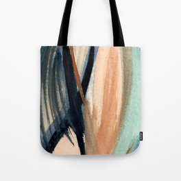 Waves - a pretty minimal watercolor abstract in blues, pinks, and browns Tote Bag