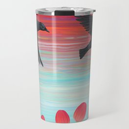 crows, tulips, & snails Travel Mug