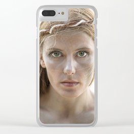 Portrait of a Mermaid Clear iPhone Case