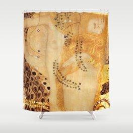 Water Serpents Gustav Klimt Shower Curtain