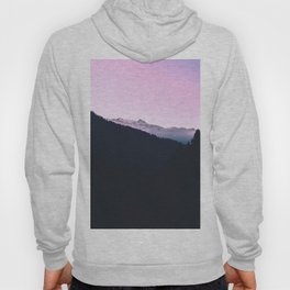 Mountain Forest Sky Pink Pastel Hoody