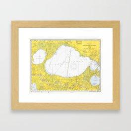 Vintage Map of Lake Pontchartrain (1971) Framed Art Print