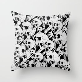 Stacked Up The Bones Throw Pillow