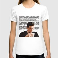 dale cooper T-shirts featuring Agent Cooper - coffee quotes  by Alessandro Paradossi