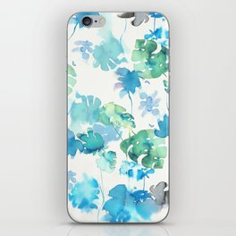 green tropical. collab dylan silva and francisco fonseca iPhone Skin