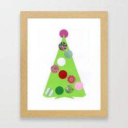 Xmas tree girlie Framed Art Print