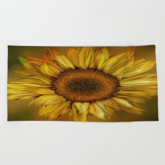 Sunflower - Vintage Beach Towel