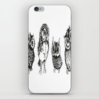 owls iPhone & iPod Skins featuring OWLS by Acus