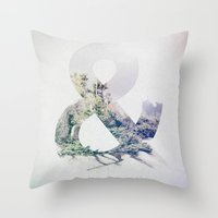 ampersand Throw Pillows featuring Ampersand by John W. Hanawalt