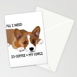 All I Need is Coffee & My Corgi Stationery Cards