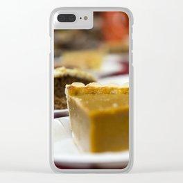 Thanksgiving Pumpkin Pie Dessert Clear iPhone Case