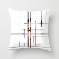 technology Throw Pillows featuring Technology by Robert J. Lopez