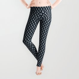 Dragon Scales Pattern - Silver Black Leggings