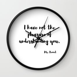 Jane Austen quote from Pride and prejudice Wall Clock