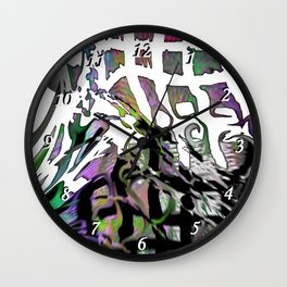 Distortion of the line Wall Clock