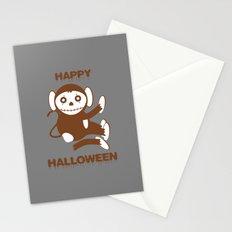 Dead Monkey Happy Halloween Stationery Cards