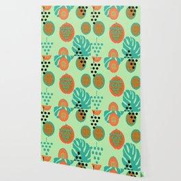 Grapes and tropical fruits Wallpaper