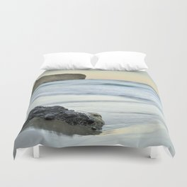Caressed by the sea water Duvet Cover